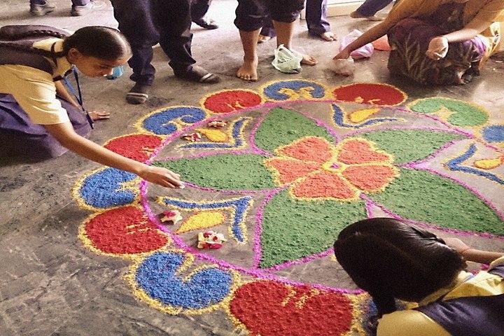 Bajaj Public School-Rangoli Competition