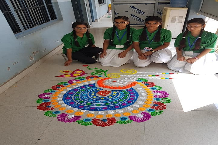 BAKSHI PUBLIC SCHOOL-Rangoli