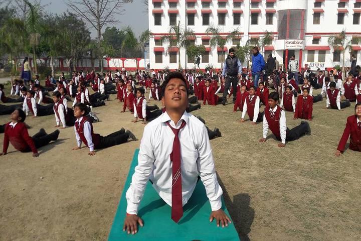 Basu Baral saraswathi vihar-Yoga day celebrations