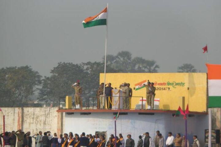 Saraswati Shishu Mandir-Flag Hoisting