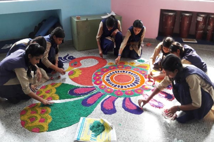 Bill Clinton school-Rangoli celebrations