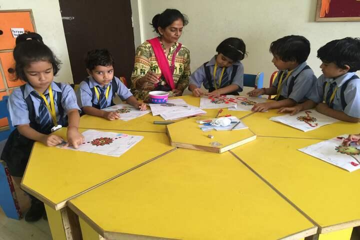 Bloom International School-Rakhi Making Competition