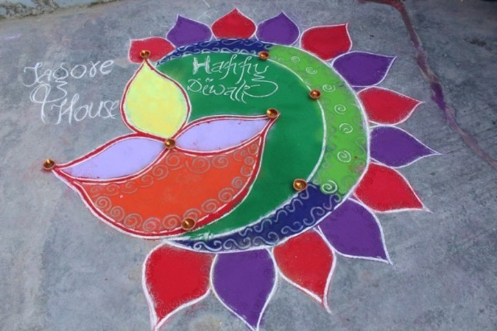 Blooming Dales Modern School- Rangoli Competition