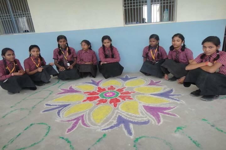 Blossom Academic School-Rangoli