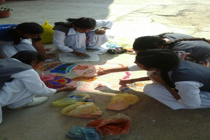 Columbus International School-Rangoli Competition