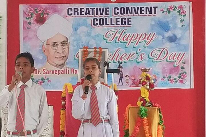 Creative Convent College-Teachers Day