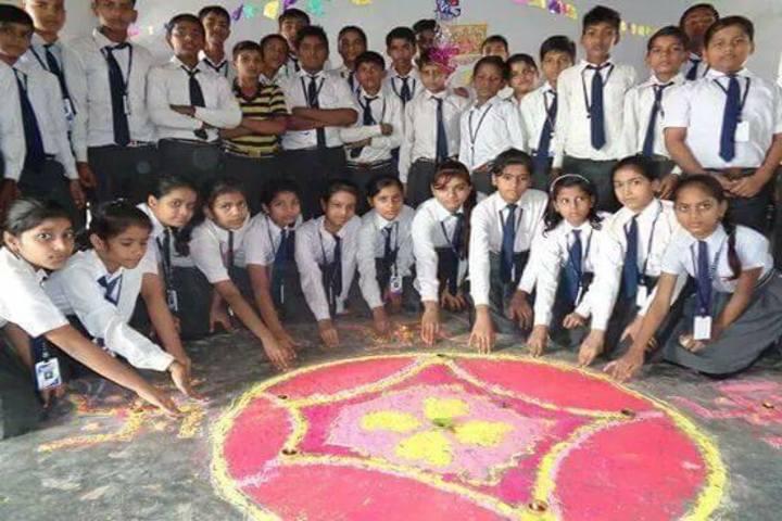 D R S S Modern Public School-Rangoli