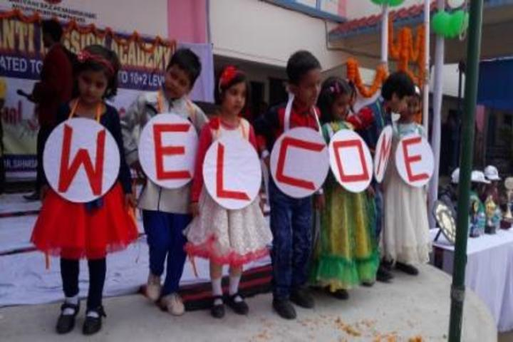 Shanti Mission Academy-KG Students