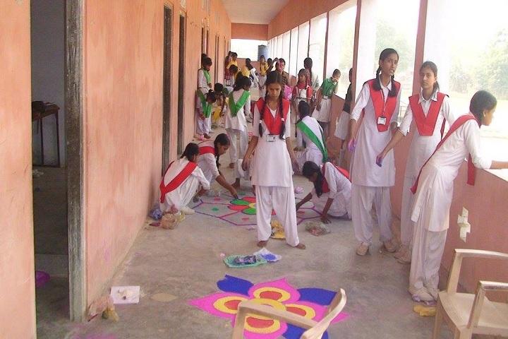 Dinapur Public School-Events rangoli