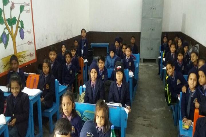 Divya International School-Classroom junior with students