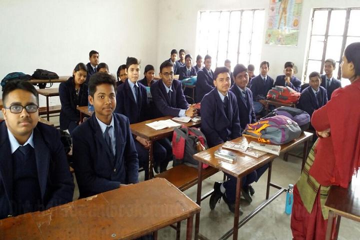 Divya International School-Classroom with teacher