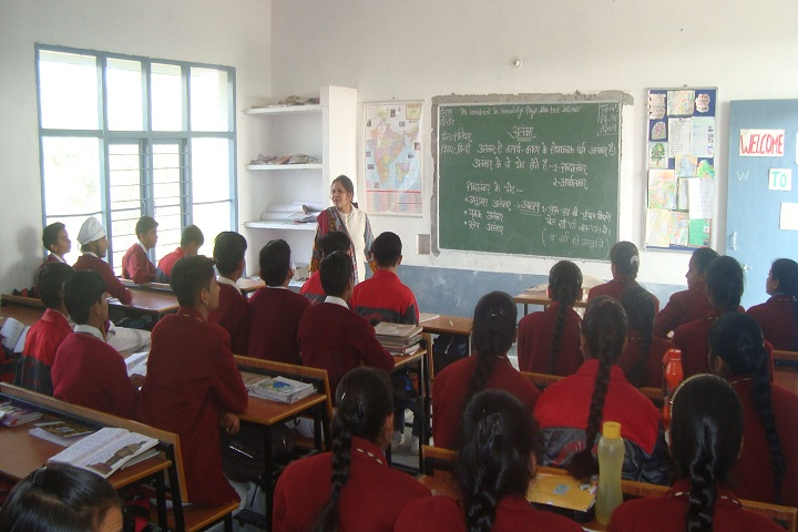 Doons Pride Public School-Classroom with teacher