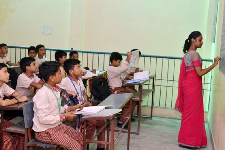 Dr G L Kanojia Public School-Classroom junior with teacher