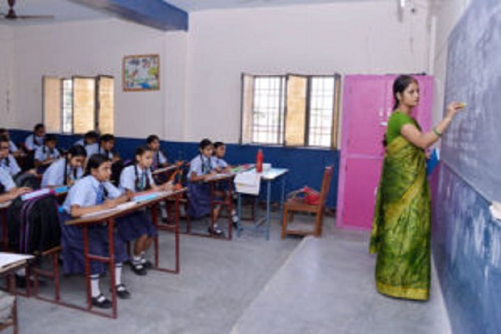 Dr G L Kanojia Public School-Classroom with teacher