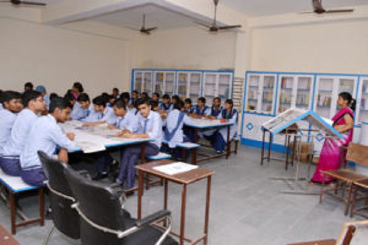 Dr G L Kanojia Public School-Library with reading room