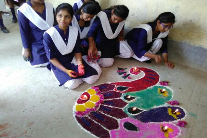 Shantikunj Public School-Rangoli