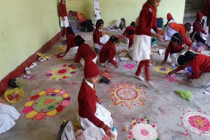 Sharshwati Shishu Vidya Mandir Chapra-Rangoli