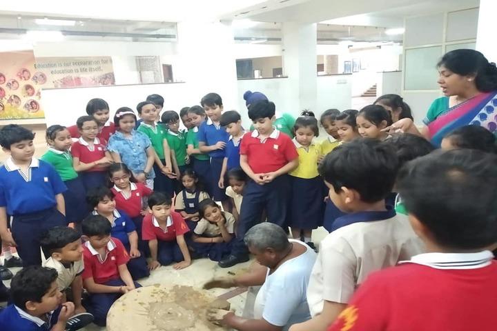 Edify World School Firozabad-Learning of pot making