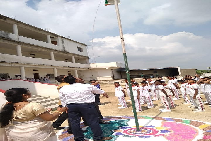 G B International School-Flag Hoisting