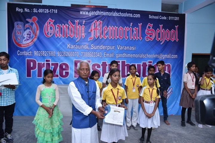Gandhi Memorial School-Certificate Distribution