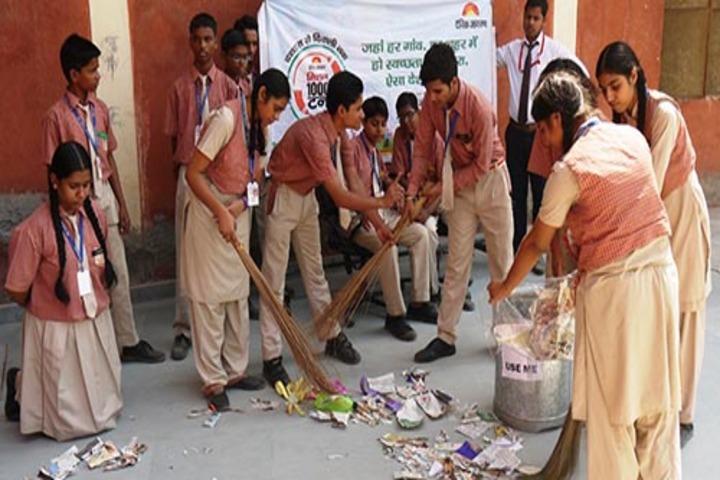 Gautam Public School-Cleaning the campus