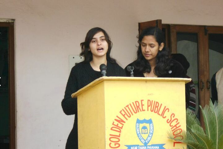Golden Future Public School-Speech