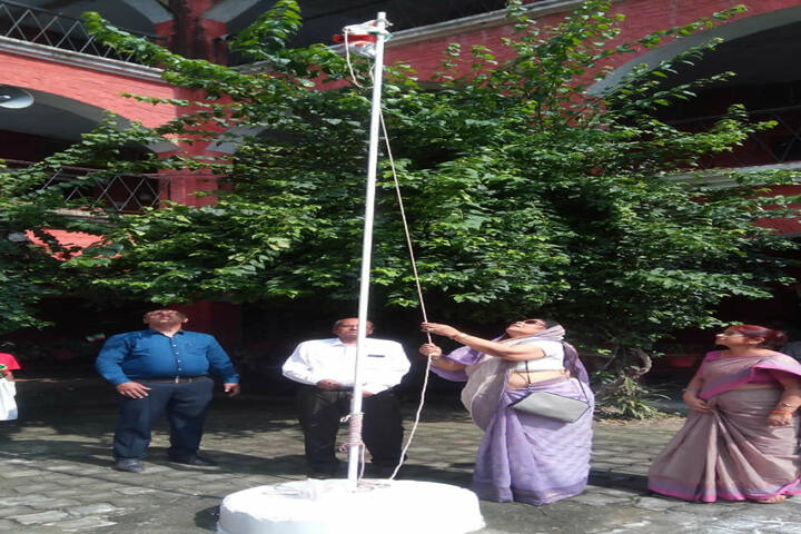 Gorakhpur Public School-Flag Hoisting