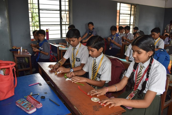Gyandeep Shiksha Bharati Senior Secondary School-Rakhi Making Activity