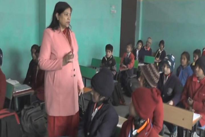 H.S. Public School-Classroom with teacher
