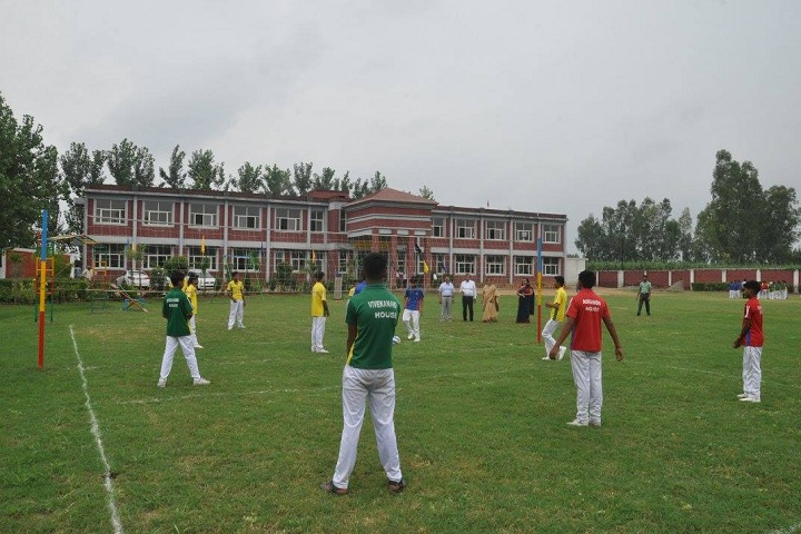 Hastinapur Public School-Campus-View with playground