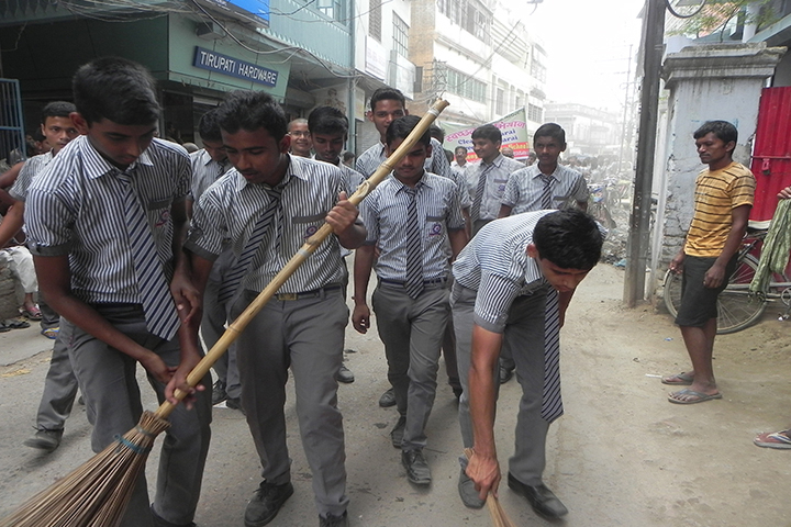 ST Joseph Public School-Cleanliness Drive