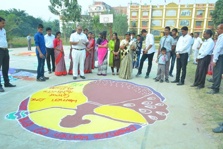 ST Joseph Public School-Rangoli Competition