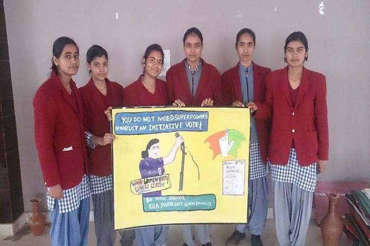 K V Public School-Vote for Right Activity