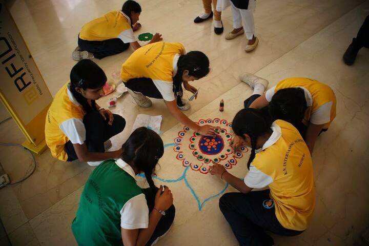 K.N.International School-Rangoli Competition