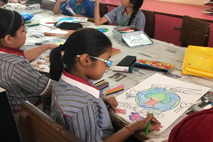 K.R.Mangalam World School-Drawing Competition