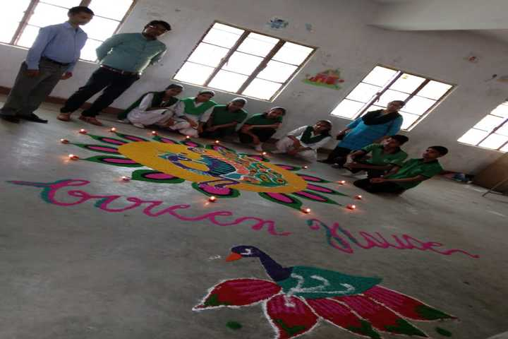 St Lawrence Academy-Rangoli Competition