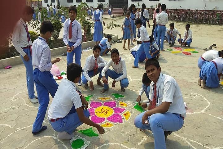 St Xaviers High School-Rangoli