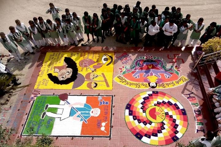 Little Flower Children School-Rangoli Competition