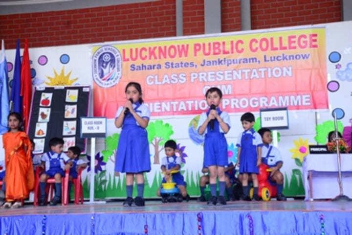 Lucknow Public School-Class Presentation Programme