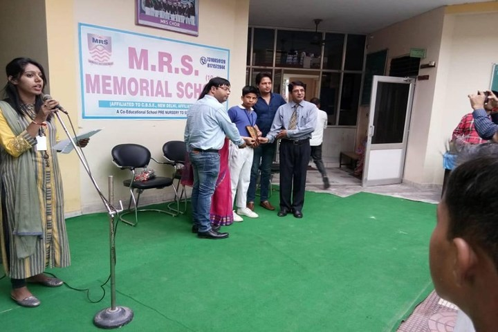 M R S Memorial School-Achievement