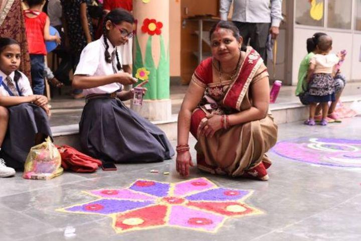 M G Convent School-Rangoli Competition