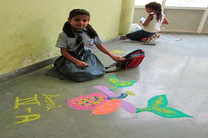 Maples Academy-Rangoli Competition