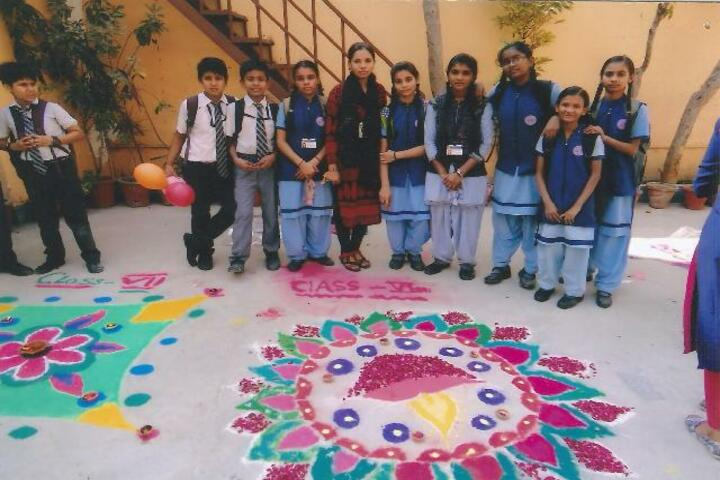 Modern Public School-Rangoli event
