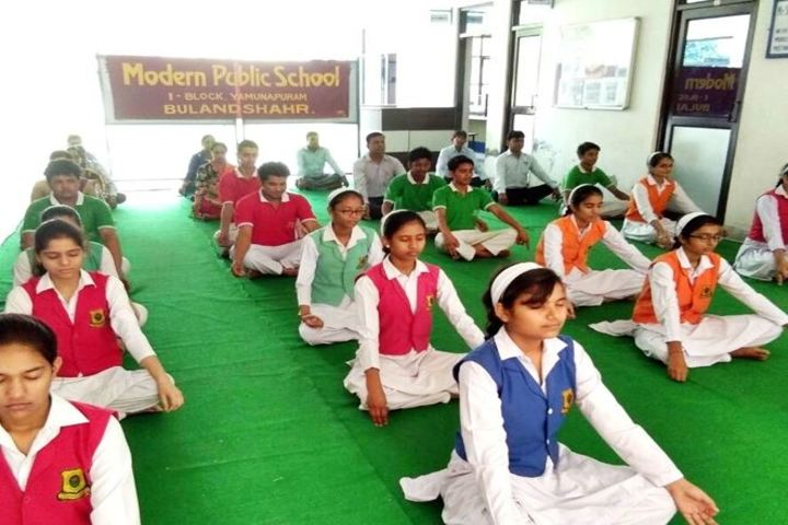 Modern Public School-Yoga Activity