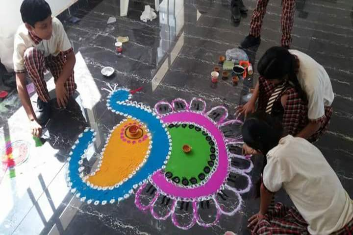 Moon International Public School-Rangoli Event