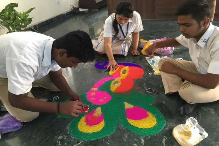 The Tribhuvan School-Rangoli Competition