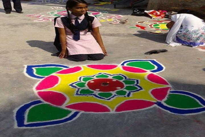 Transcendence International School-Rangoli Competition