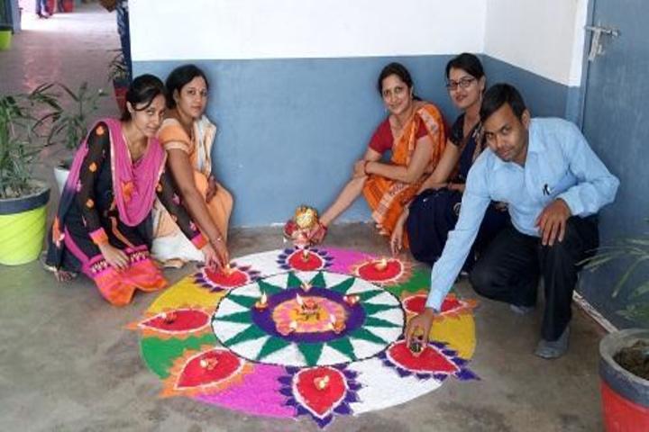 Nanak Public School-Rangoli Event