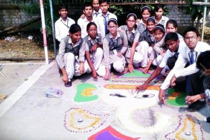 Nation Public School-Rangoli Competition
