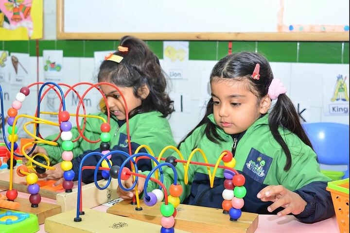 Nehru World School-Kindengarten Students